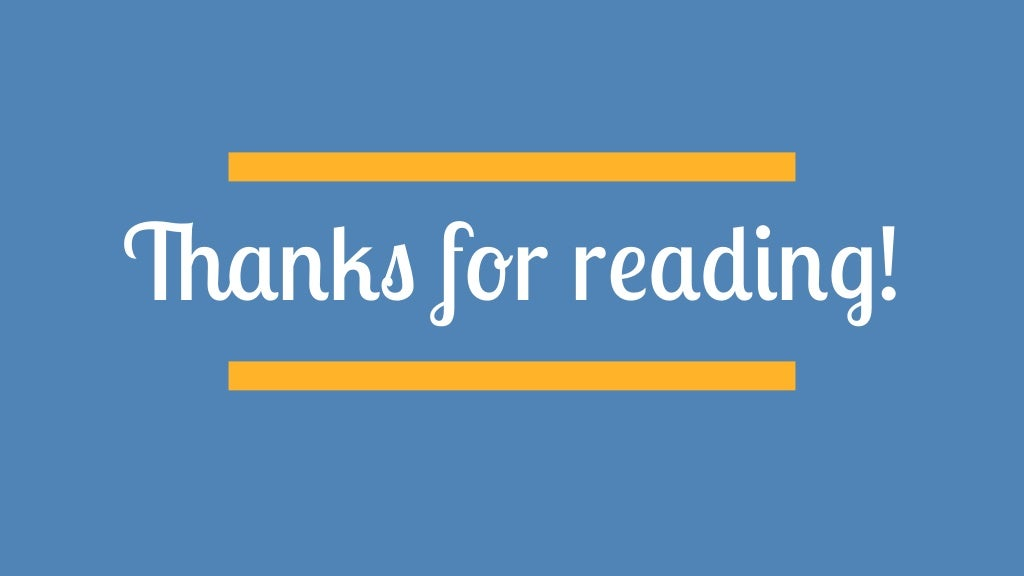 Image result for thanks for reading