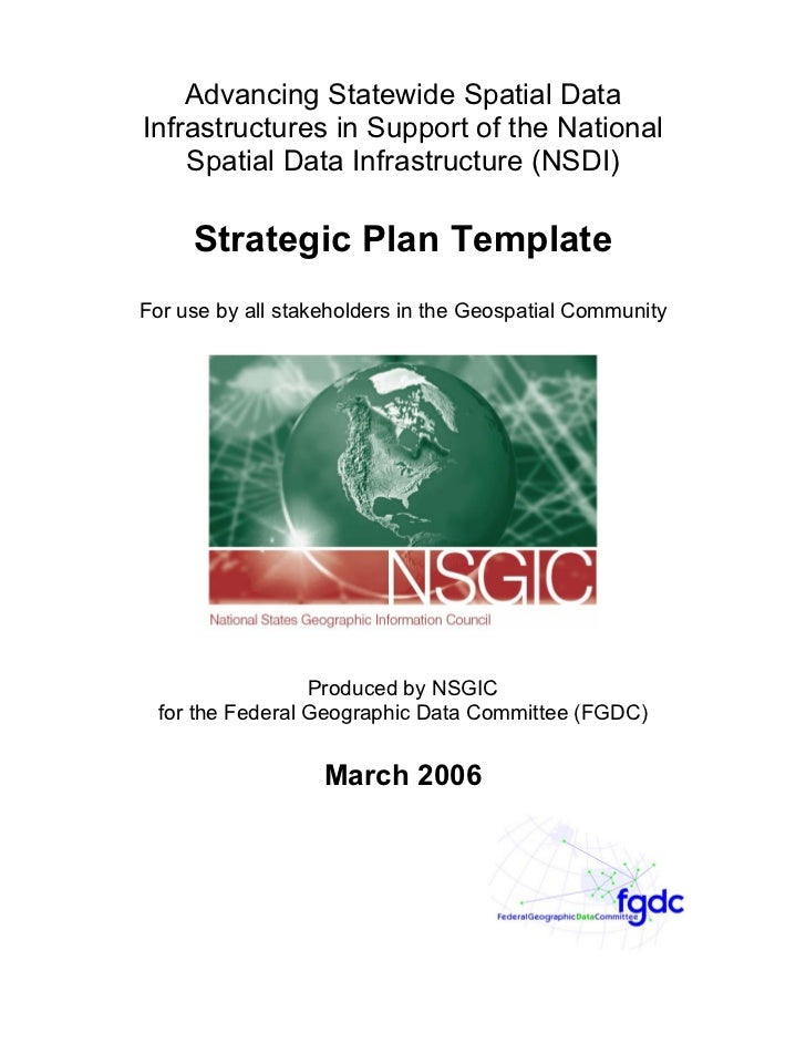 Advancing Statewide Spatial Data Infrastructures in Support of the National     Spatial Data Infrastructure (NSDI)       S...