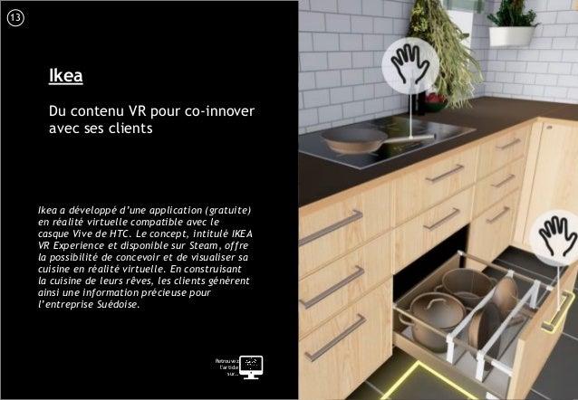 14 Ikea Du contenu VR pour co-innover avec ses clients Ikea a développé d'une application (gratuite) en réalité virtuelle ...