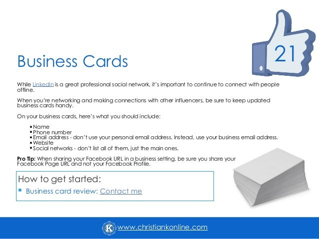 25 ways to increase engage and grow your facebook presence 23 christiankonline business cards colourmoves
