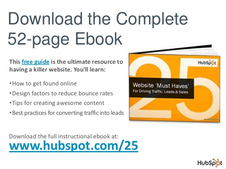 25 Must-Haves for a Great Website Slide 2