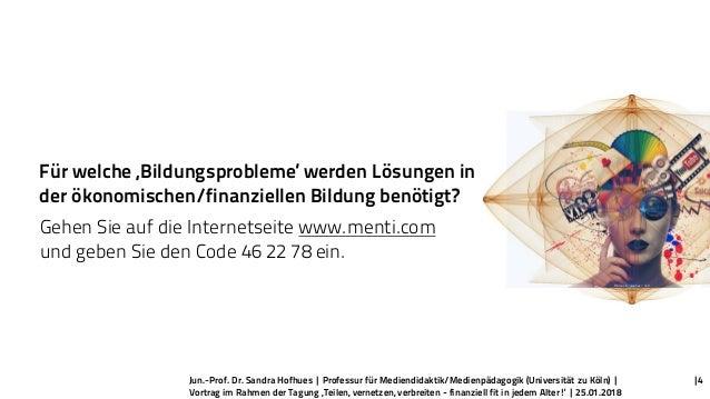 Jun.-Prof. Dr. Sandra Hofhues | Professur für Mediendidaktik/Medienpädagogik (Universität zu Köln) | Vortrag im Rahmen der...