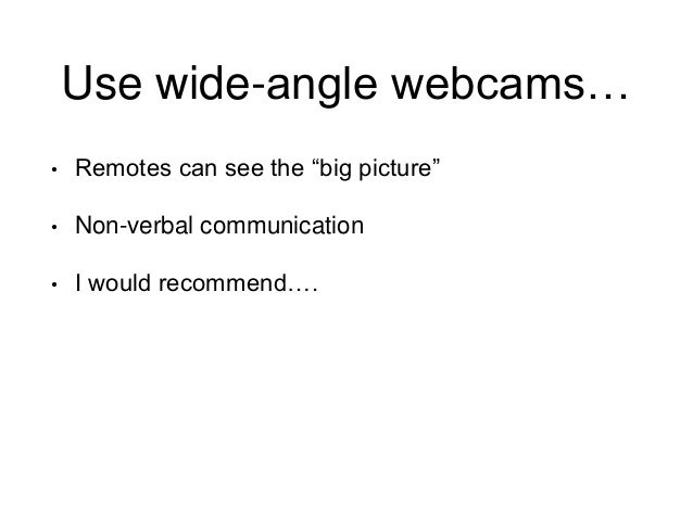Wide Angle Webcam For Conference Room