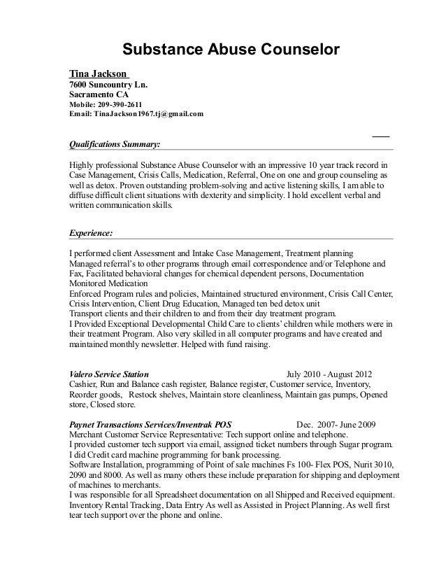 Rehabilation Counselor Cover Letter