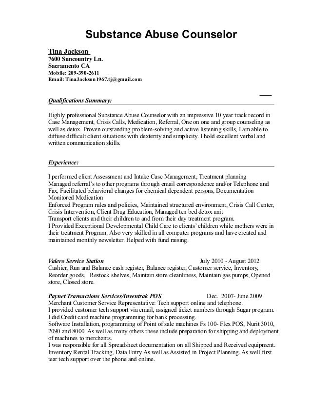 drug counselor resume edit cover letter cover letter sample uva career