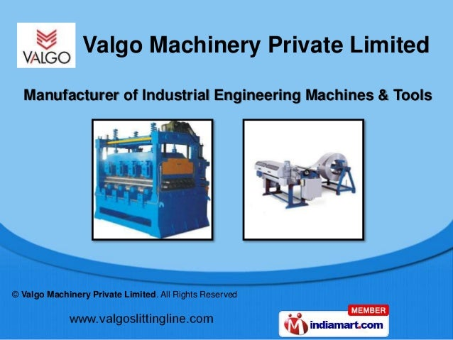 © Valgo Machinery Private Limited. All Rights Reserved Manufacturer of Industrial Engineering Machines & Tools Valgo Machi...