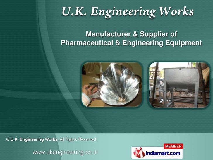 Manufacturer & Supplier ofPharmaceutical & Engineering Equipment