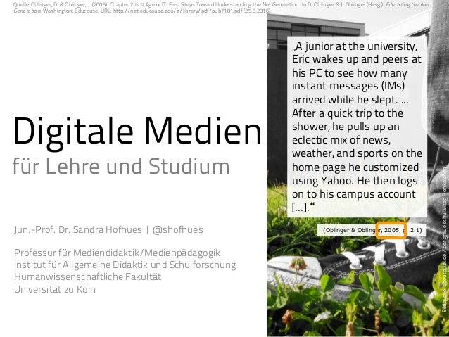 Digitale Medien für Studium und Lehre Slide 2