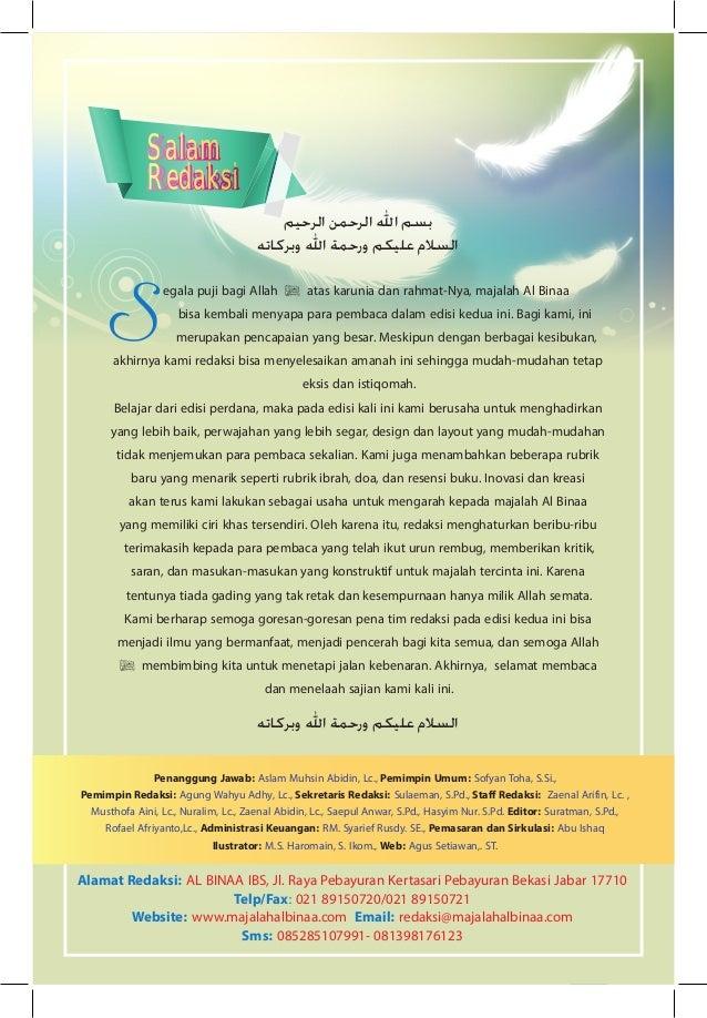 1 edisi 2 vol1 Membina Iman Ilmu dan Akhlak majalah dakwah dan pendidikan الرحيم الرحمن اهلل بسم وبركاته اهلل ...