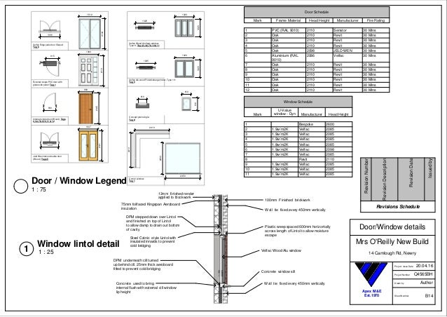 Assignment 2 Sheet B14 Door Window Details