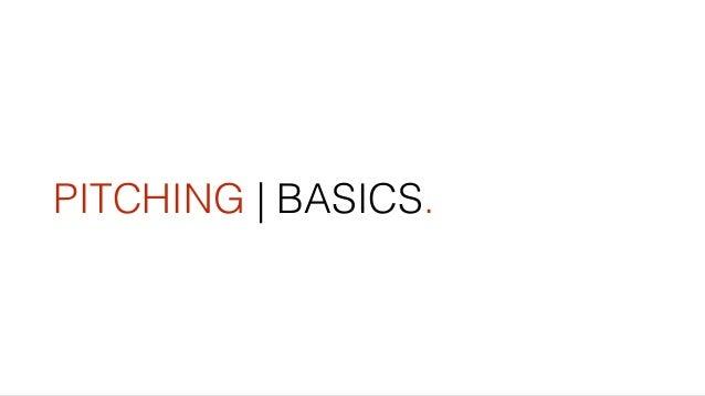 PITCHING   BASICS.