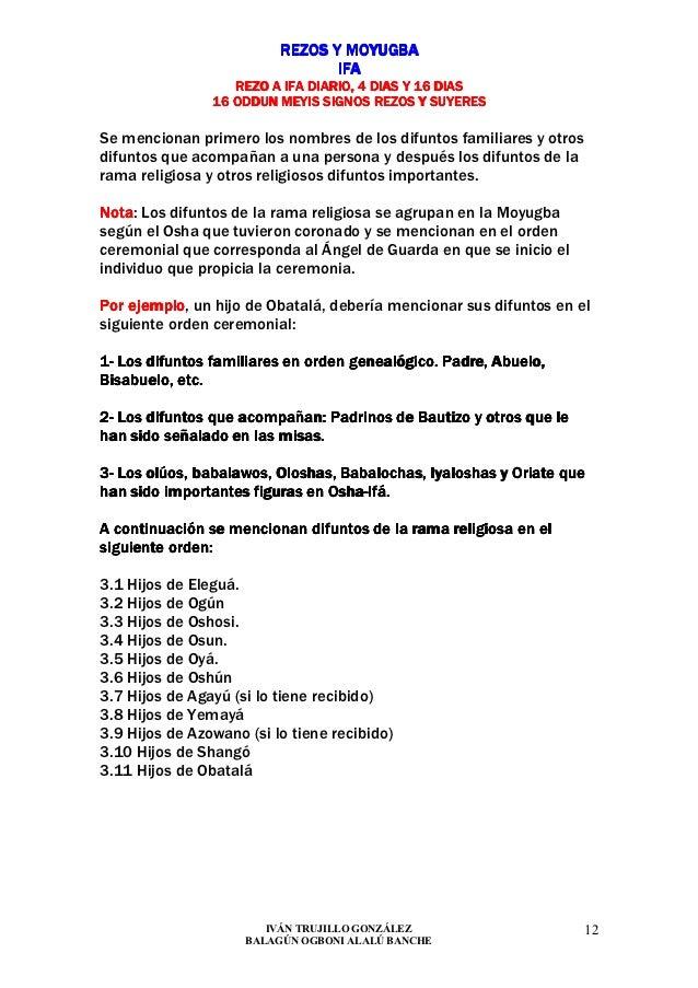 REZOS Y MOYUGBA                                 IFA                   REZO A IFA DIARIO, 4 DIAS Y 16 DIAS                1...