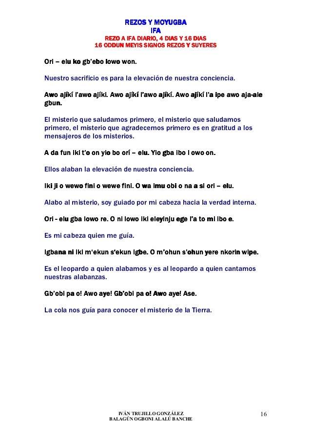REZOS Y MOYUGBA                                  IFA                    REZO A IFA DIARIO, 4 DIAS Y 16 DIAS               ...