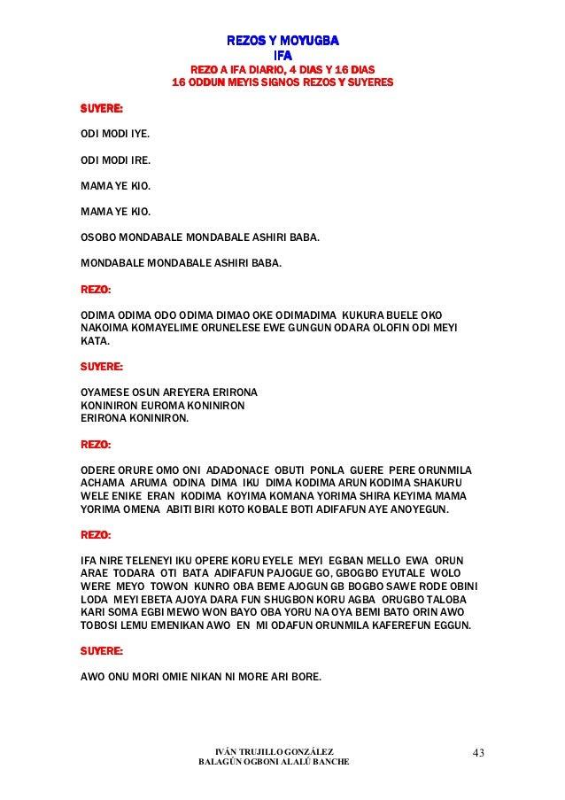 REZOS Y MOYUGBA                                IFA                   REZO A IFA DIARIO, 4 DIAS Y 16 DIAS                16...