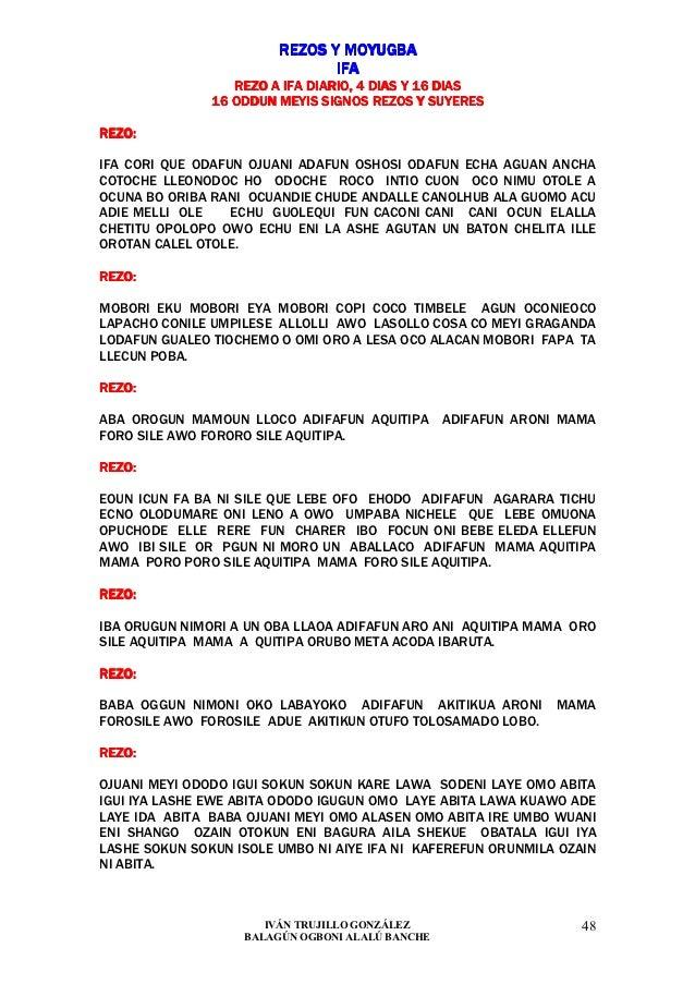 REZOS Y MOYUGBA                               IFA                  REZO A IFA DIARIO, 4 DIAS Y 16 DIAS               16 OD...