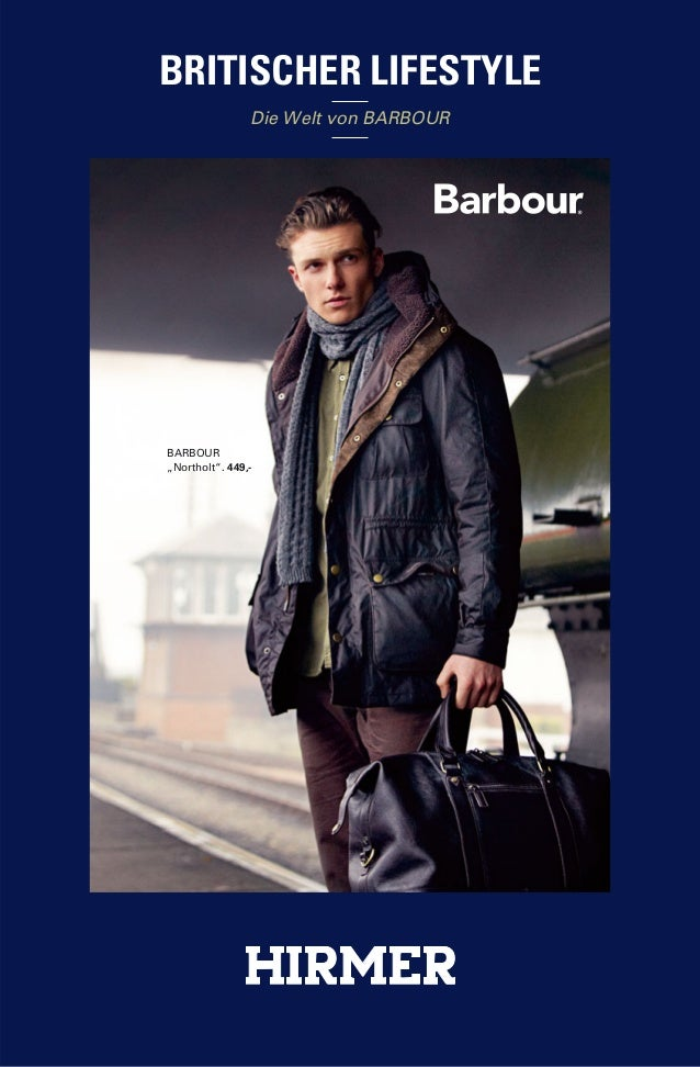 """BRITISCHER LIFESTYLE  Die Welt von BARBOUR  BARBOUR  """"Northolt"""". 449,-"""