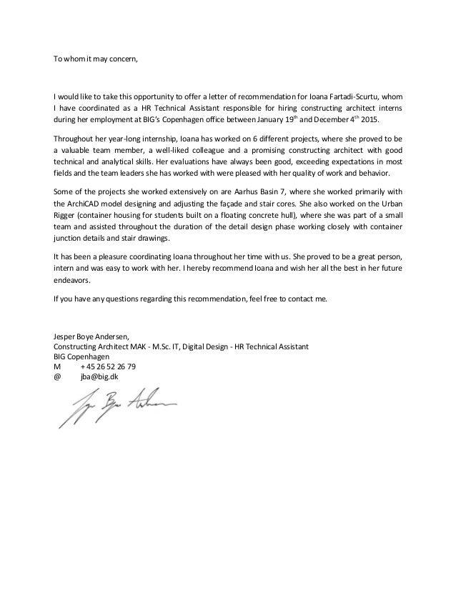 Recommendation Letter - Jesper Boye Andersen