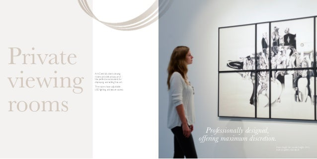 Art Central's client viewing rooms provide privacy, and the perfect environment, for displaying and selling fine art. The ...