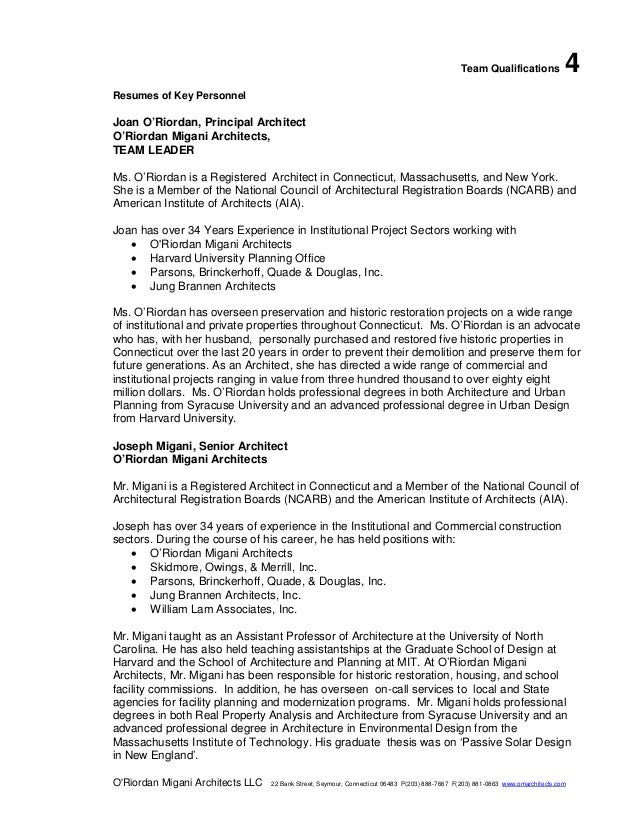 Sample OMA RFQ Submission