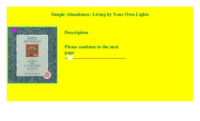 Living by Your Own Lights Simple Abundance