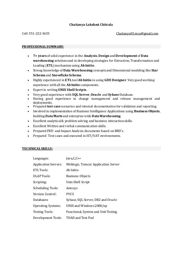 chaitanya updated resume