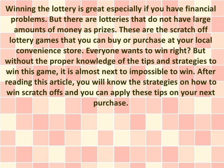 Winning the lottery is great especially if you have financial  problems. But there are lotteries that do not have large   ...