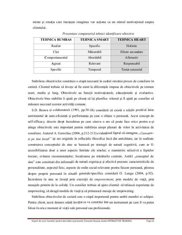 Suport de curs: Consilier pentru dezvoltare personală, Formator Roxana Axinte INTERACTIVE TRAINING Page 32 minte şi emoţia...