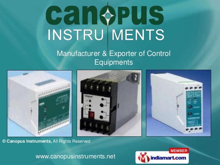 Manufacturer & Exporter of Control Equipments<br />
