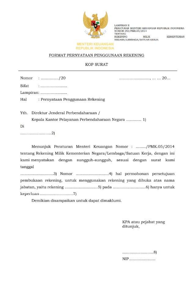 252 Pmk05 2014 Rekening Bendahara