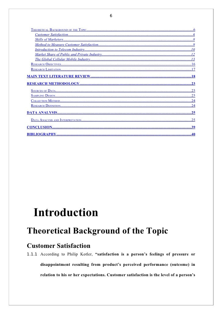 review of literature of customer satisfaction