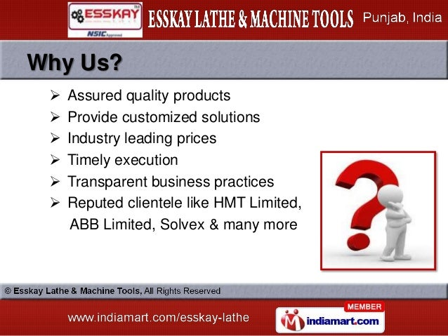 Why Us?    Assured quality products    Provide customized solutions    Industry leading prices    Timely execution   ...