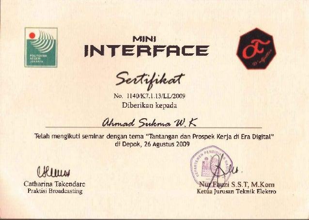 cv ijasah dan sertifikat ahmad sukma w k