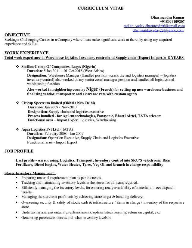 dharmendra current updated resume