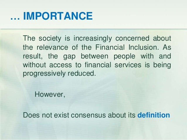 MICROFINANCE AND FINANCIAL INCLUSION conference UCSP