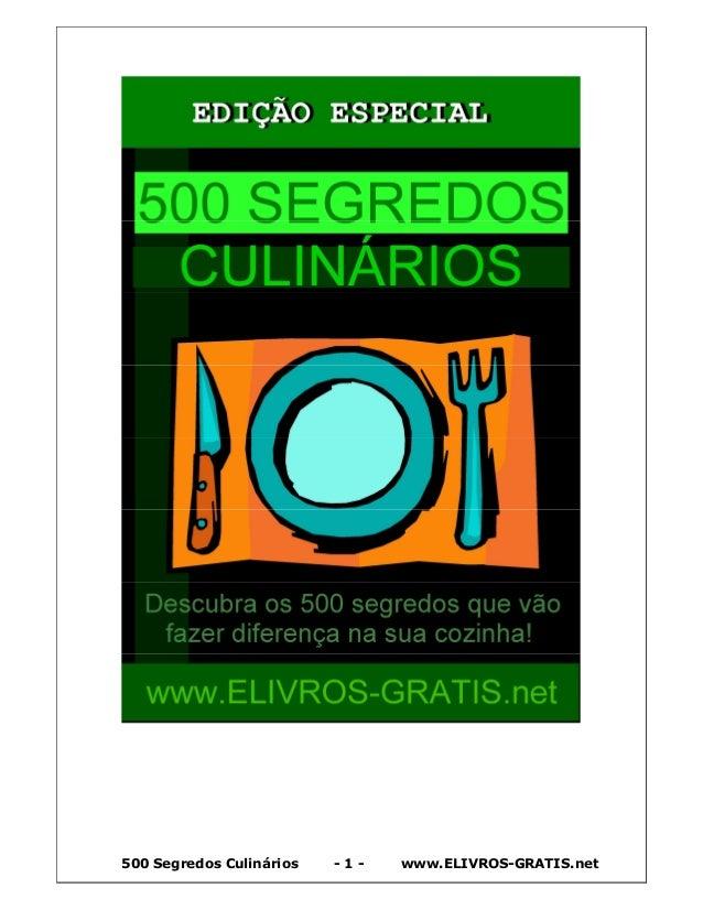 500 Segredos Culinários - 1 - www.ELIVROS-GRATIS.net