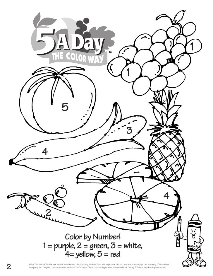 Coloring Pages: Coloring Book With Fruit