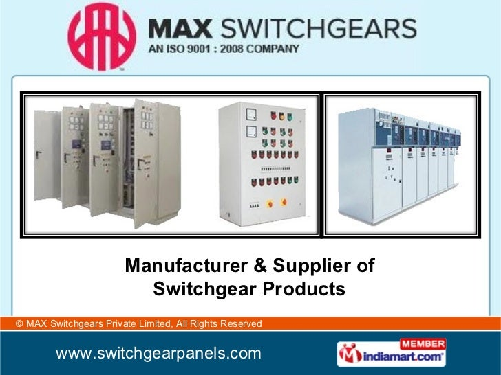 Manufacturer & Supplier of Switchgear Products