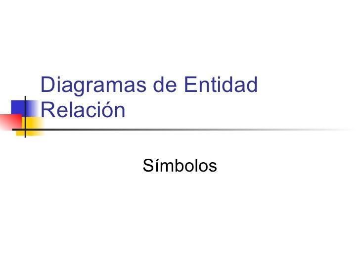 Diagramas de Entidad Relación Símbolos