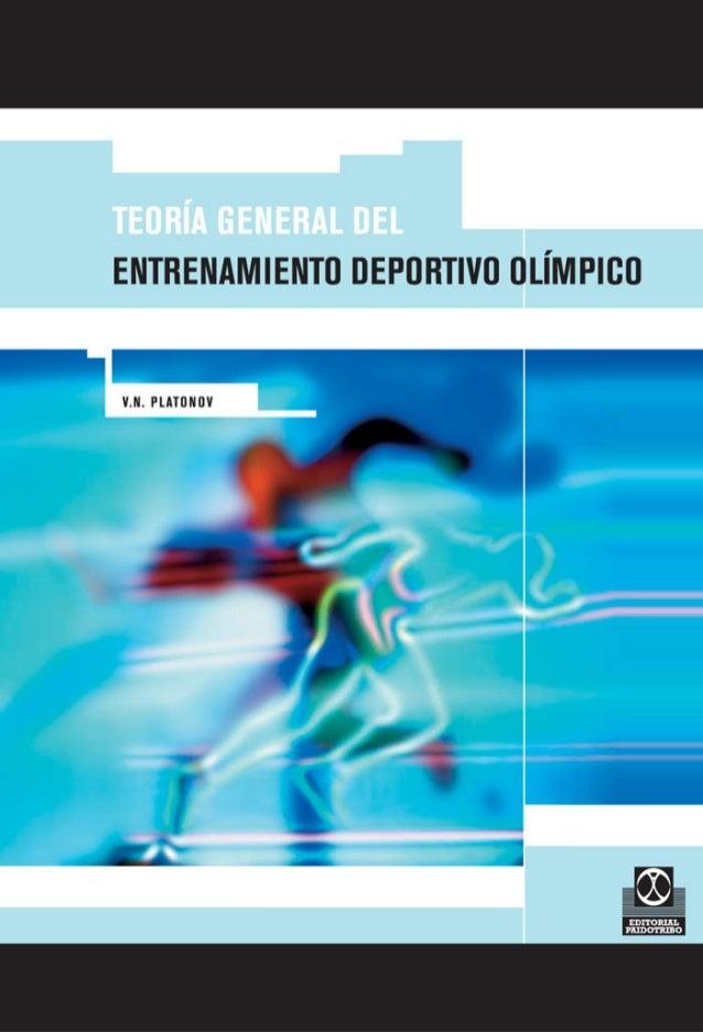 COLECCIÓN ENTRENAMIENTO TEORÍA GENERAL DEL ENTRENAMIENTO DEPORTIVO OLÍMPICO  Por V.N. PLATONOV EDITORIAL PAIDOTRIBO 00. 613b526f21ce9