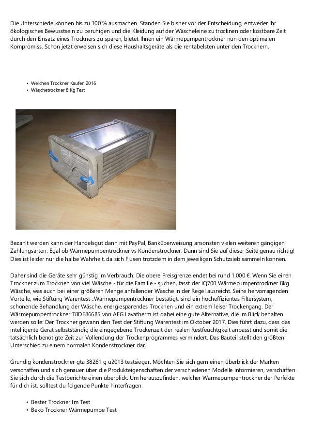 unterschied kondenstrockner wärmepumpentrockner