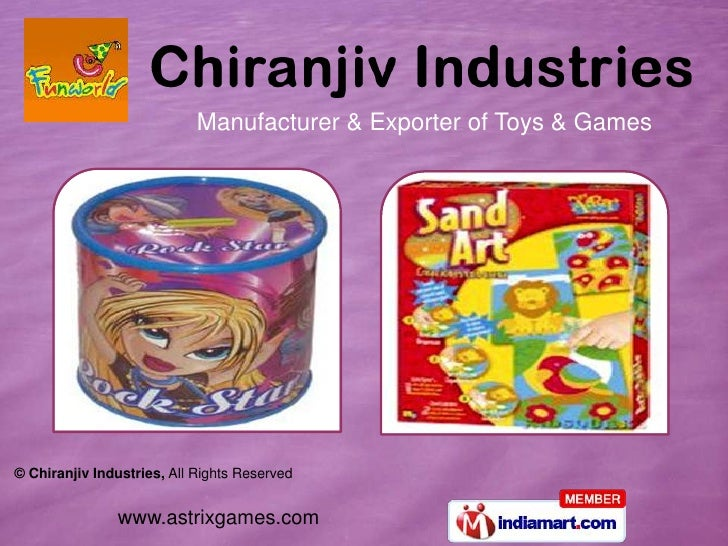 Manufacturer & Exporter of Toys & Games© Chiranjiv Industries, All Rights Reserved               www.astrixgames.com