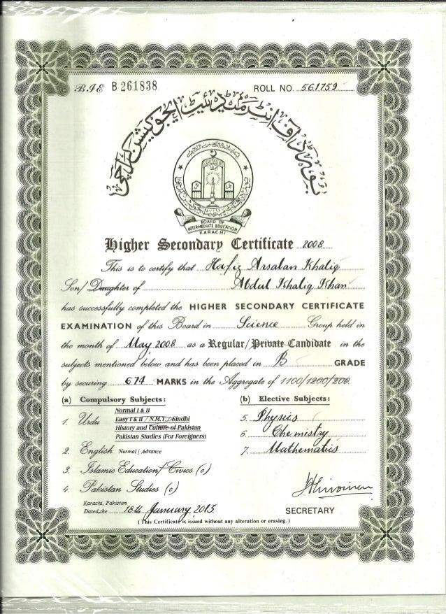 inter certificate inter certificate