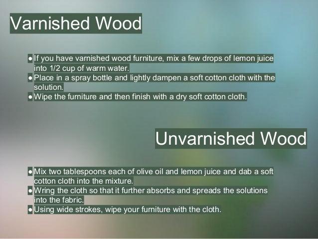 Make Your Own Non-Toxic Furniture Polish