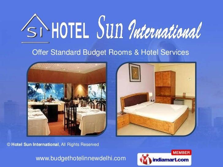 Offer Standard Budget Rooms & Hotel Services<br />