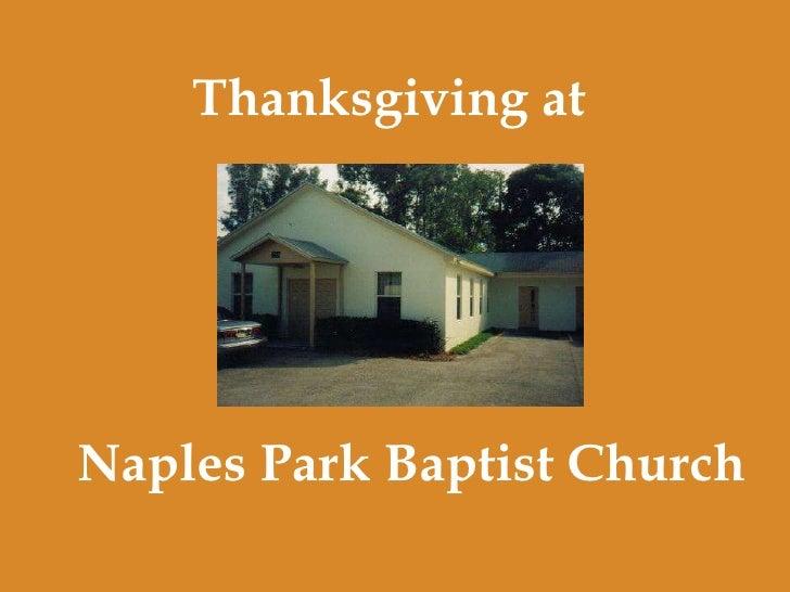 Naples Park Baptist Church Thanksgiving at