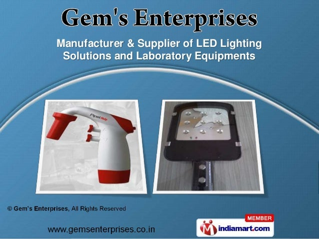Manufacturer & Supplier of LED Lighting Solutions and Laboratory Equipments