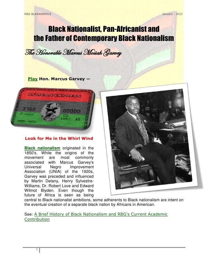 RBG BLAKADEMICS                                                              January , 2010          Black Nationalist, Pa...