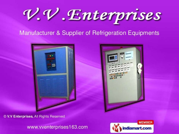 Manufacturer & Supplier of Refrigeration Equipments<br />