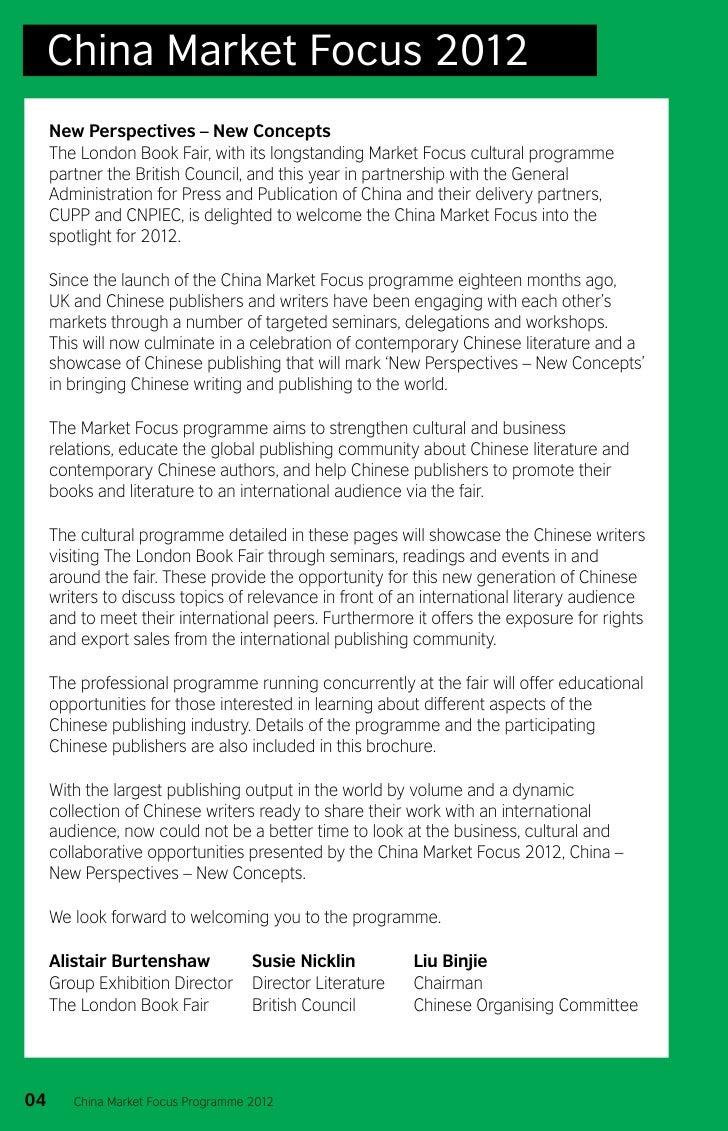 China Market Focus at The London Book Fair 2012