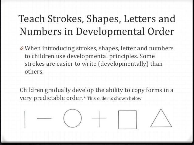 Developmental order essay